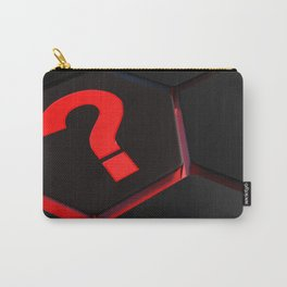 red question mark on hexagons - 3D rendering Carry-All Pouch