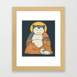 Hotei Snorlax Framed Art Print