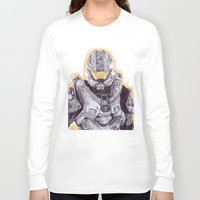 master chief Long Sleeve T-shirts featuring Halo Master Chief by DeMoose_Art