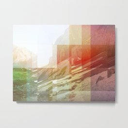 Pixel view over the valley Metal Print