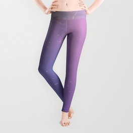 Faded Vintage Pink and Purple Ombre Galaxy Leggings