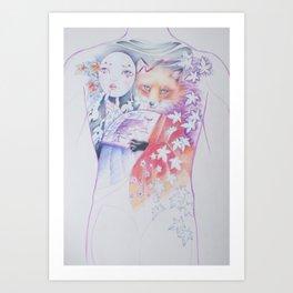 kitsune kitsune Art Print