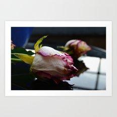Dying Rose Art Print