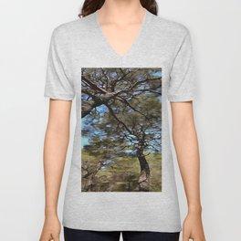 The Tangled Webs Of Trees Unisex V-Neck