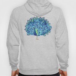 Peacock - Green and BLUE Hoody