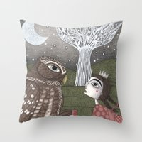 once upon a  time Throw Pillows featuring Once Upon a Time by Judith Clay