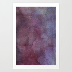 Purple Watercolor Nebula Galaxy Sky Art Print