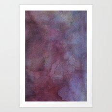 Purple Watercolor Nebula Sky Art Print