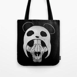 Panda Skull Tote Bag