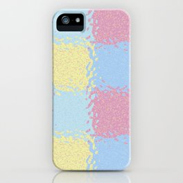 Pastel Jiggly Tile Pattern iPhone Case