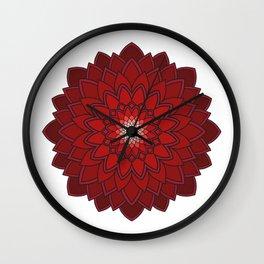 Ornamental round flower decorative element Wall Clock