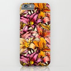Daylily Drama - a floral illustration pattern Slim Case iPhone 6s