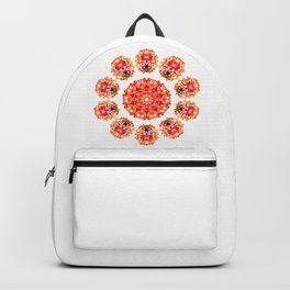 Red Floral Floklore Flower Pattern Illustration Backpack