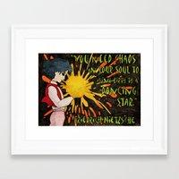nietzsche Framed Art Prints featuring Howl Meets Nietzsche by Feral Doe