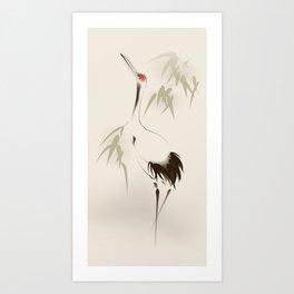 Oriental Red-Crowned Crane 001 Kunstdrucke
