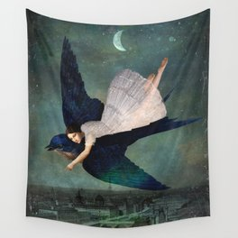 fly me to paris Wall Tapestry