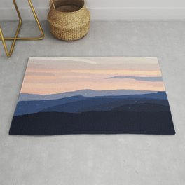 Pastel Sunset Over the Mountains Rug