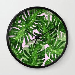 Tropical leaf VI Wall Clock