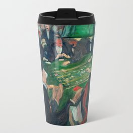 At the Roulette Table in Monte Carlo by Edvard Munch Travel Mug
