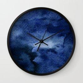 INDIGO ABSTRACT I Wall Clock