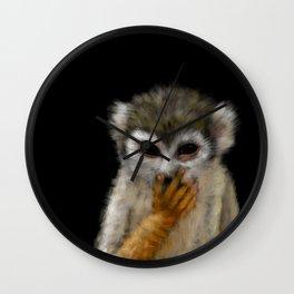Guenon Portrait Wall Clock