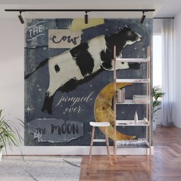 Cow Jumped Over The Moon Wall Mural