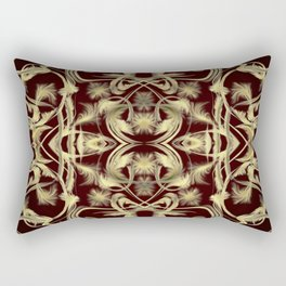 dark red Digital pattern with circles and fractals artfully colored design for house and fashion Rectangular Pillow