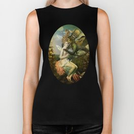 """The body, the soul and the garden of love"" Biker Tank"