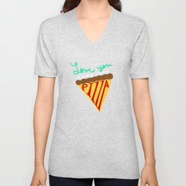 Love You More Than Pizza Unisex V-Neck