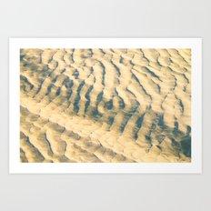 Sand-waves at De Koog Art Print