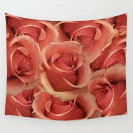 Persian Red Roses Wall Tapestry