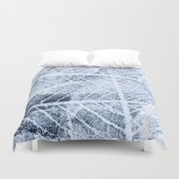 jack frost Duvet Covers featuring frost by clemm