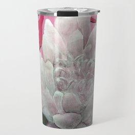 Monochrome Lotus Travel Mug
