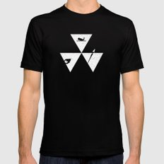 3 Elements Black SMALL Mens Fitted Tee