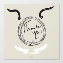 Thank You Ghotic Style Canvas Print