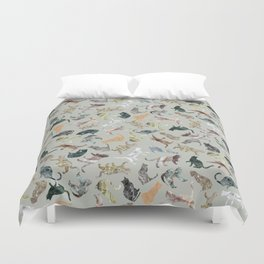 Marble Cats Duvet Cover