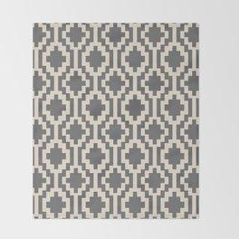 Mapuche Natural Black Throw Blanket