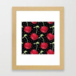 Cherry pattern III Framed Art Print