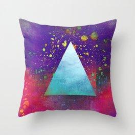 Triangle Composition V Throw Pillow