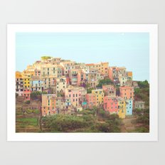 Colorful Houses Art Print