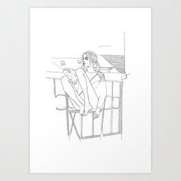 Cozy look Art Print