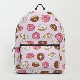 ALL the donuts! Rainbow on Pink Backpack