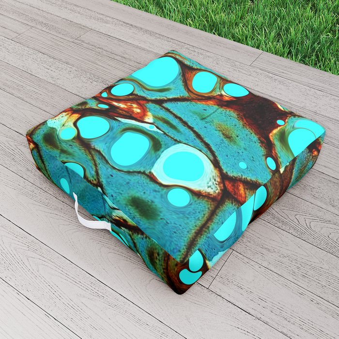 Metal and Blobs Outdoor Floor Cushion