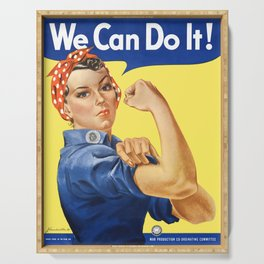 We Can Do It - Rosie the Riveter Poster Serving Tray
