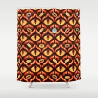 thorin Shower Curtains featuring Smaug's Lair Pattern by TotalBabyCakes