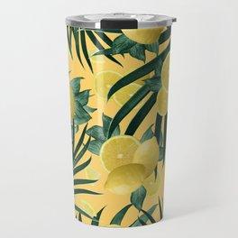 Summer Lemon Twist Jungle #3 #tropical #decor #art #society6 Travel Mug