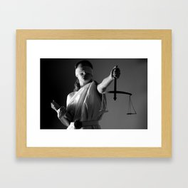 Justice woman Framed Art Print