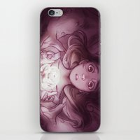 beauty and the beast iPhone & iPod Skins featuring Beauty / Beast by Nilah Magruder