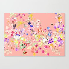 Soft bunnies pink Canvas Print