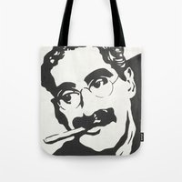 marx Tote Bags featuring Mr. Marx Acrylic Pop Art by Kathryn Price